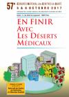 5/6 octobre 2017, 57eme Congrès National des Centres de Santé : EN FINIR avec les déserts médicaux ! Inscrivez vous sans tarder !